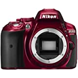 Nikon D5300 SLR-Digitalkamera Kit DX AF-P 18-55 VR rot
