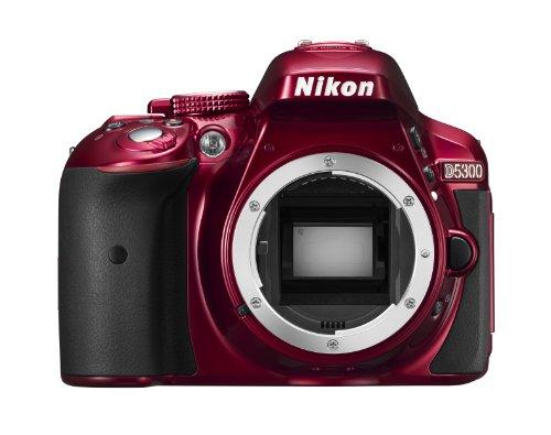 Nikon D5300 - Digitale Spiegelreflexkamera, rot (DX-Format)