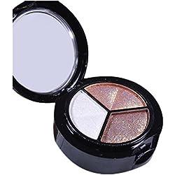 Barbarer Lidschatten Palette, 3 Farben Perlglanz Smokey Lidschatten,Matte Lidschatten Pulver Eye Shadow Makeup Metallic Kosmetik Eyeshadow Palette (B)