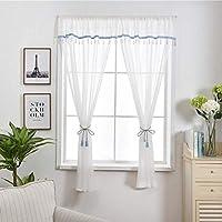 Lanzamiento Cortina de gasa, Gasa blanca sólida, Minimalista moderno, Para Cocina Baño Dormitorio