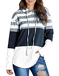 Socluer Damen Kapuzenpullover Lang Pullover Pulli Freizeit Sport Hoodie Sweatshirt Sweater Top Oberteie