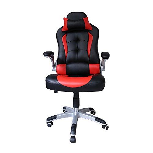 Huigou Carga Kg Racing De Chair Apoyabrazos Premium Comfort Silla Gaming Acolchados Capacidad Altura Oficina 200 Giratoria Hg® Ajustable Aj45RL