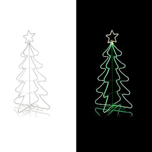 LED Weihnachtsbaum XXL Outdoor Tannenbaum beleuchtet Weihnachtsdekoration Lichterkette 165cm Garten Balkon