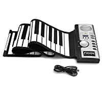 Lujex 61 Keys Silicone Portable Flexible Foldable Roll Up Electronic Soft Keyboard Piano (61 keys)