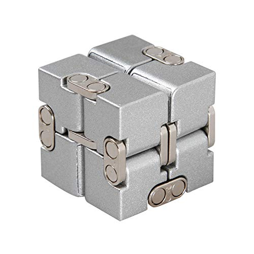4839435df7ebe1 Anddod Premium Aluminium Alloy Infinity Cube Deformation Magical Cube  Fidget Toys EDC Stress Relief Toy -