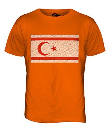 CandyMix Türkische Republik Nordzypern Kritzelte Flagge Herren T Shirt Orange