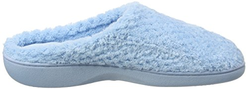Isotoner Ladies Popcorn Mule Slippers, Pantofole Donna Blue (Light Blue)