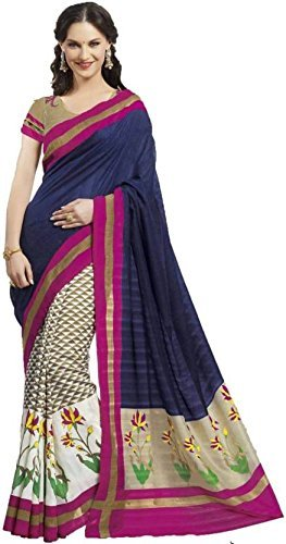 Sarees (Hk VIlla Women's Clothing Silk Embroidered ,Chiffon, Paper Cotton Silk, Laycra Net Printed Blue Bollywood Style Designer Wear Low Price Sale Offer buy online in SILK Material New Free Size Beautiful Saree Best Offer For Women Party Wear Fashion Designer Sarees With Havy Work)  available at amazon for Rs.499