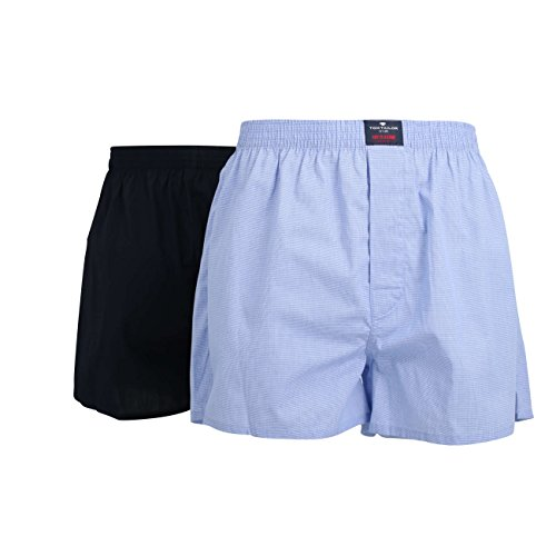 TOM TAILOR Herren Boxershorts Web-shorts 2er Pack light blue-navy