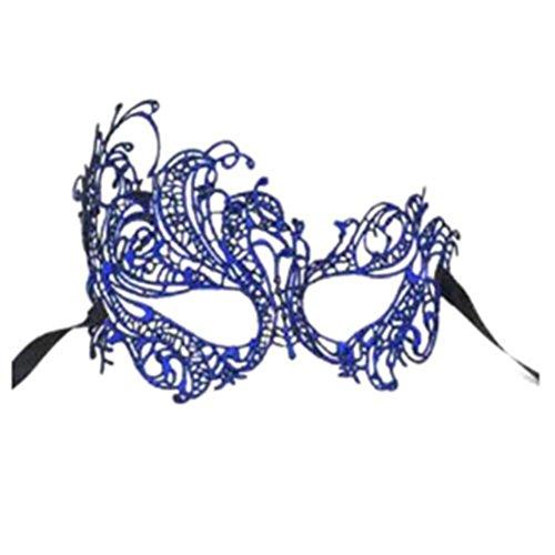Funie Frauen Spitze Augen Gesicht Maske Masquerade Party Prom Bühne Halloween Kostüm Prop (Kostüm Blatt Mann Halloween)