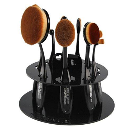 Internet 10foro ovale makeup brush holder asciugatura mensola rack organizzatore cosmetici strumento