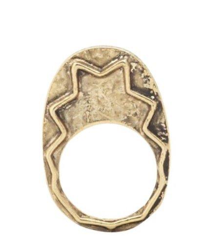House of Harlow 1960Zig Zag placcato oro tribale anello, placcato oro, 9,5, cod. R002055-5