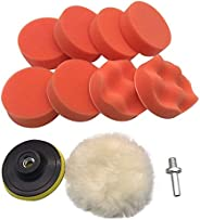 SOLDOUT™ 3 Inch Buffing Pad Kit For Polishing Wheel Auto Car With Drill Adapter (Pack of 10)