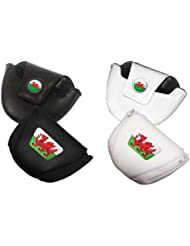Asbri Patriot Leatherette Mallet Putter Cover - Wales. White Version.