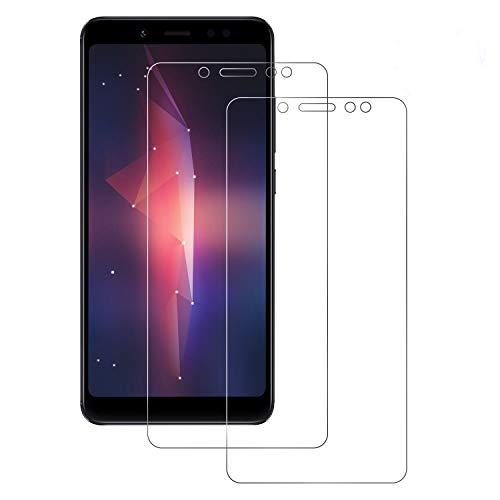 DOSNTO Panzerglas Schutzfolie für Xiaomi Redmi Note 5 [2 Stück] [9H Härte] [Anti-Kratzer] [Wasserdicht] [Blasenfrei] [HD Klar], Redmi Note 5 Panzerglas panzerfolie Screen Protector