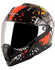 Vega Storm Atomic Black Orange Helmet-L