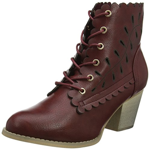 Joe Browns Damen 5th Avenue Ankle Boots Stiefeletten, Rot (Dark Red A), 42 EU