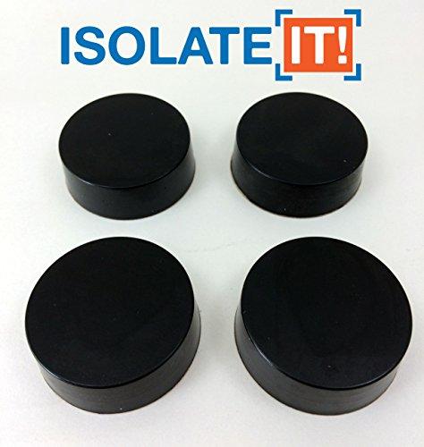 Isolieren ES: Sorbothane Matte vibrationsisolation Scheibe (1,3cm Dick 3,8cm Dia. 50Duro–4Pack (Vibrations-dämpfer Einzigartige)