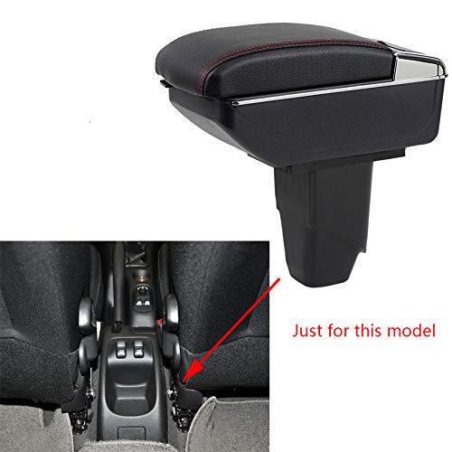 Preisvergleich Produktbild Für 2006-2013 P eugeot 206 207 Luxus Auto Armlehne Mittelarmlehne mittelkonsole Zubehör Eingebaute LED-Licht Schwarz