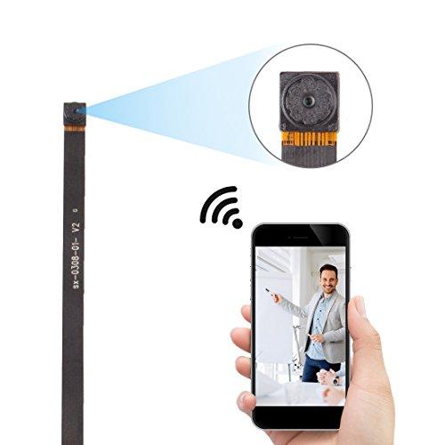 Galleria fotografica FREDI Microcamera spia HD 720P con rete Wi-Fi Telecamera nascosta modulare P2P fai da te senza fili con sensore di movimento - Videocamera DV Digital Video Recorder (V55-720p)