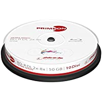 PRIMEON 2761312 50GB BD-R DL Disco BLU-Ray Lectura/Escritura (BD) - BD-R Vírgenes (BD-R DL, 50 GB, 8X, Caja DE 10)
