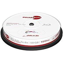Primeon 2761312 50GB BD-R DL disco blu-ray lectura/escritura (BD) - BD-R vírgenes (BD-R DL, 50 GB, 8x, Caja para pastel, - 10)