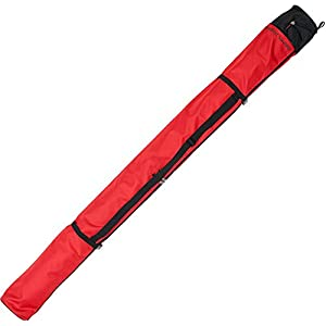 Prodecon Skisack Nordic Vario für 1-2 Paar Langlaufski + Stöcke – Farbe red-black