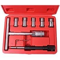SLPRO® Juego de herramientas con llaves de vaso para retirar inyectores diesel. 8piezas