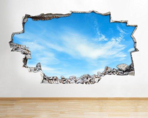 lken Scenic Wand Aufkleber 3D Poster Art Aufkleber Vinyl Raum Kids Schlafzimmer Baby Kinderzimmer Cool Wohnzimmer Hall Jungen Mädchen (groß (90x 52cm)) ()