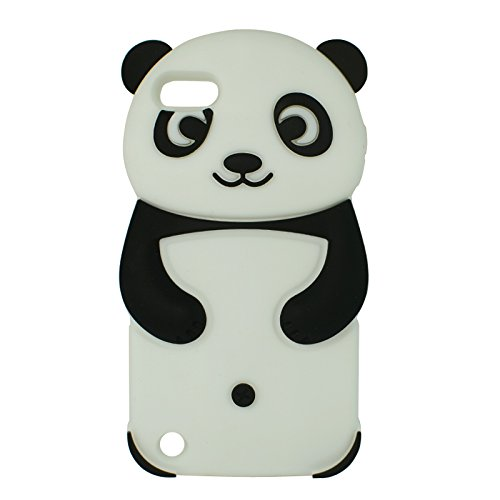 SKS Distribution® iPod Touch 5 5th generation and iPod Touch 6 6th generation Schwarz und Weiß Glücklicher Panda niedlichen Tier Silikonhülle Shell Beschützer Handy Smartphone - Ipod Panda Fall