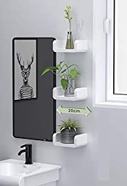 12.5 Inch Bathroom Shelf, Self Adhesive Shelf Wall Shelf Non-Drilling, U Bathroom Organizer Display Picture Le