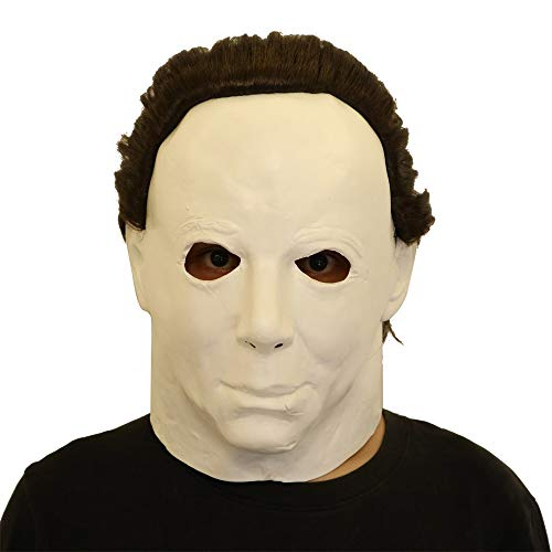 Wokee Cosplay Michael Myers, Latex Gummi Gesicht Latex Kostüm Halloween Prop Scary Mask Spielzeug