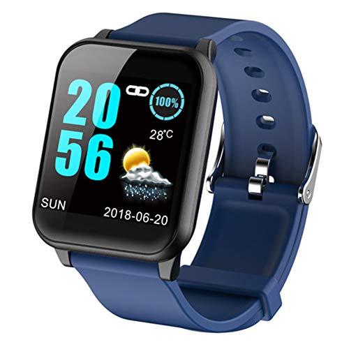 HUIJIN1 Smart Watch, Fitness-Tracker Uhr HR für Android Phones mit SIM-Karten-Slot Kamera, Step Counter Watch für Kids Frauen Männer,Blue 363 Gps