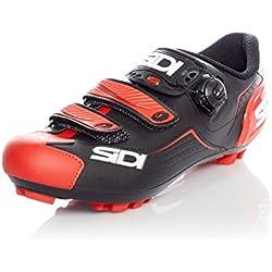 Sidi Zapatillas MTB Trace Negro-Rojo (EU 44, Rojo)