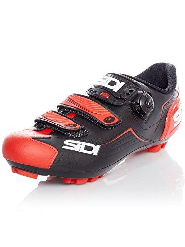 Sidi Zapatillas MTB Trace Negro-Rojo (EU 45, Rojo)