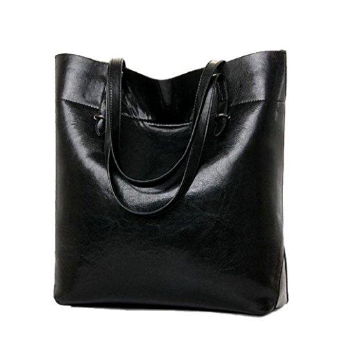 Fami Doux Patterns Shopper Hobo Sac à main avec sac à bandoulière pour les femmes Noir