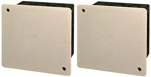 Blass Elektro Iso-Abzweigkasten Unterputz, 2 Stück, 100 x 100 mm, schwarz/weiß, 22222
