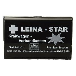 Leina 73600 – Cassetta del Pronto Soccorso a Norma DIN 13164 B, con Coperta Termica di Sopravvivenza