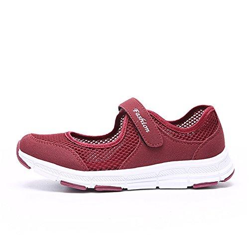 Bild von Damen Outdoor Fitnessschuhe Atmungsaktive Mesh Schuhe Sport Slipper mit Klettverschluss in Größe 35-42