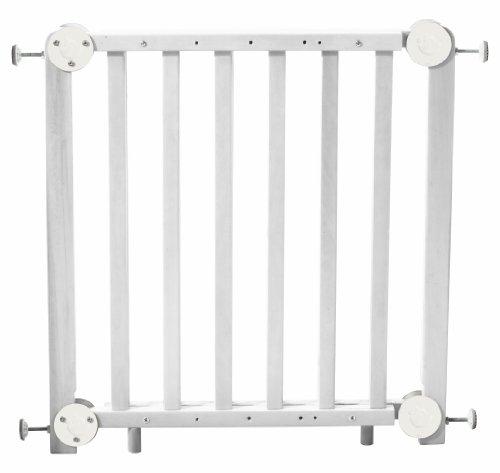 roba Türschutzgitter, Schutzgitter Holz weiß, Durchgangssicherung barrierefrei, variable Breite...