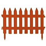 Steccato bordatura da giardino 3,2 m di plastica resistente colore: marrone