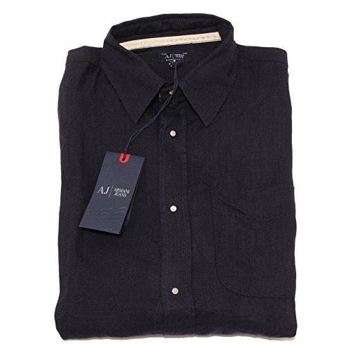 3868O camicia manica lunga ARMANI JEANS blu camicie uomo shirt men [M]