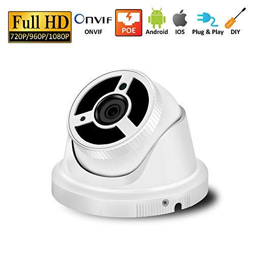MCJL 1080P Kuppel PoE-Kamera, 2 Megapixel IP-Kamera-Kuppel, Bewegungserkennung IP66 wetterfeste Infrarot-LED 30 m Nachtsicht (Led-circuit-tester)