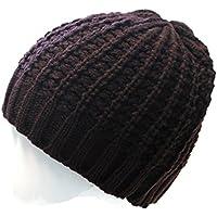 classic warme Wintermütze Mütze Skimütze Strickmütze uni einfarbig