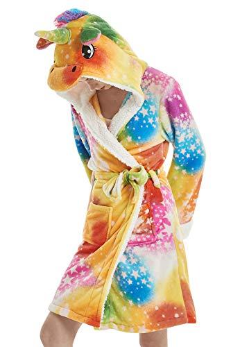 Dolamen Albornoz para Hombre y Mujer Capucha, Suave Dibujos Animados Kigurumi Lana de Coral Camisón, Robe Albornoz Dama de Honor Ropa de Dormir Pijama SPA Hotel Sauna (Medium, Amarillo)