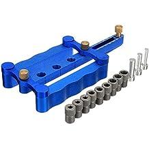 Rishil World Self Centering Dowelling Jig Metric Dowel 6/8/10mm Woodworking Drilling Tools