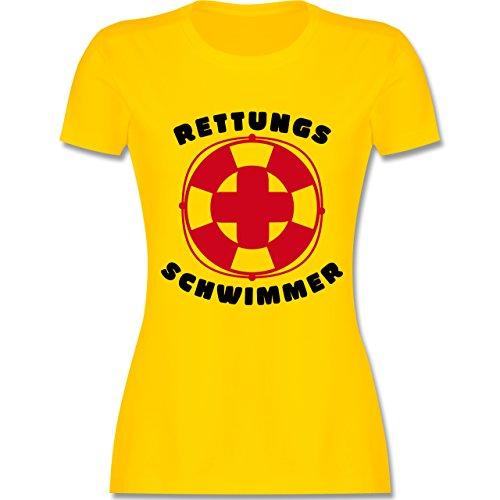 Wassersport - Rettungsschwimmer - tailliertes Premium T-Shirt mit Rundhalsausschnitt für Damen Gelb