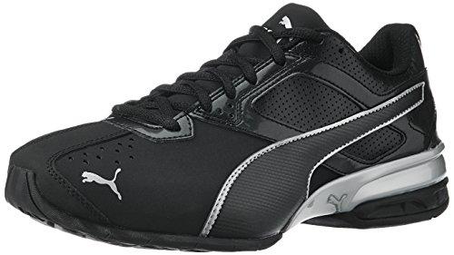 Puma Tazon 6, Herren Laufschuhe Laufschuhe, Schwarz(Black/Puma Silver), 44 EU