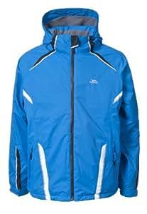 Trespass Mens Weston Zip Up Hooded Waterproof Ski Jacket (M) (Ultramarine)