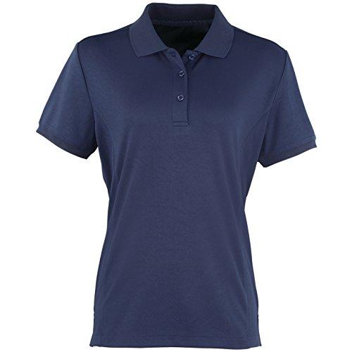 Premier Coolchecker - Polo à manches courtes - Femme Bleu Marine
